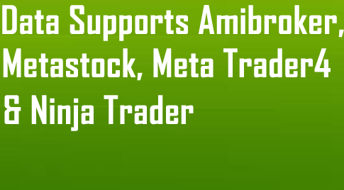 Realtime Data for Amibroker, Metastock, Meta Trader4 & Ninja Trader